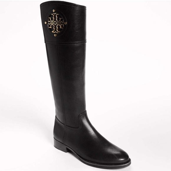 8a380c34a Tory Burch Shoes | Kiernan Flat Riding Boots Black | Poshmark